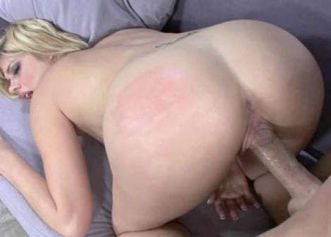 image Liisa stuffs a big black dong into her twat