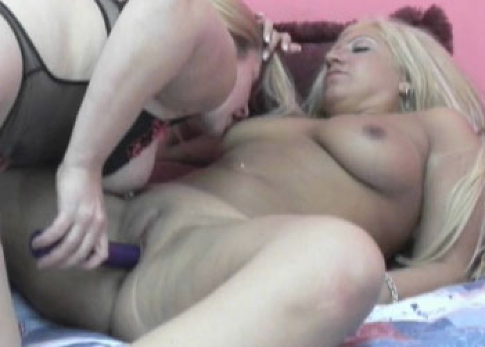 Liisa fucks busty blonde Monique